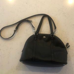 Black Coach hand/across body purse